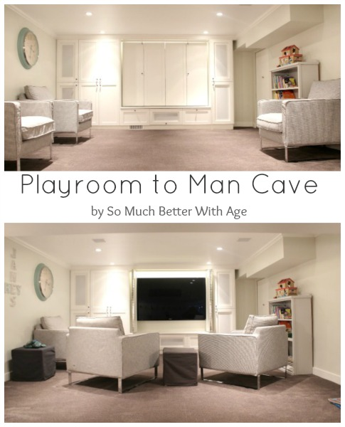 Playroom to man cave / picture of both the playroom and the man cave - So Much Better With Age