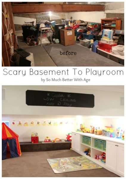 Basement before and after - So Much Better With Age