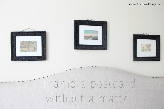 Frame art without using matte / 3 pictures hanging on wall - So Much Better With Age