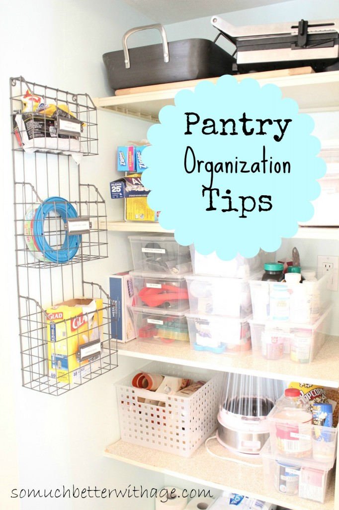 15 Pretty Pantry Projects / pantry organization tips - So Much Better With Age