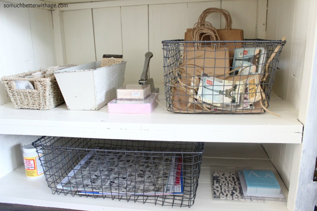 Organize craft supplies | somuchbetterwithage.com