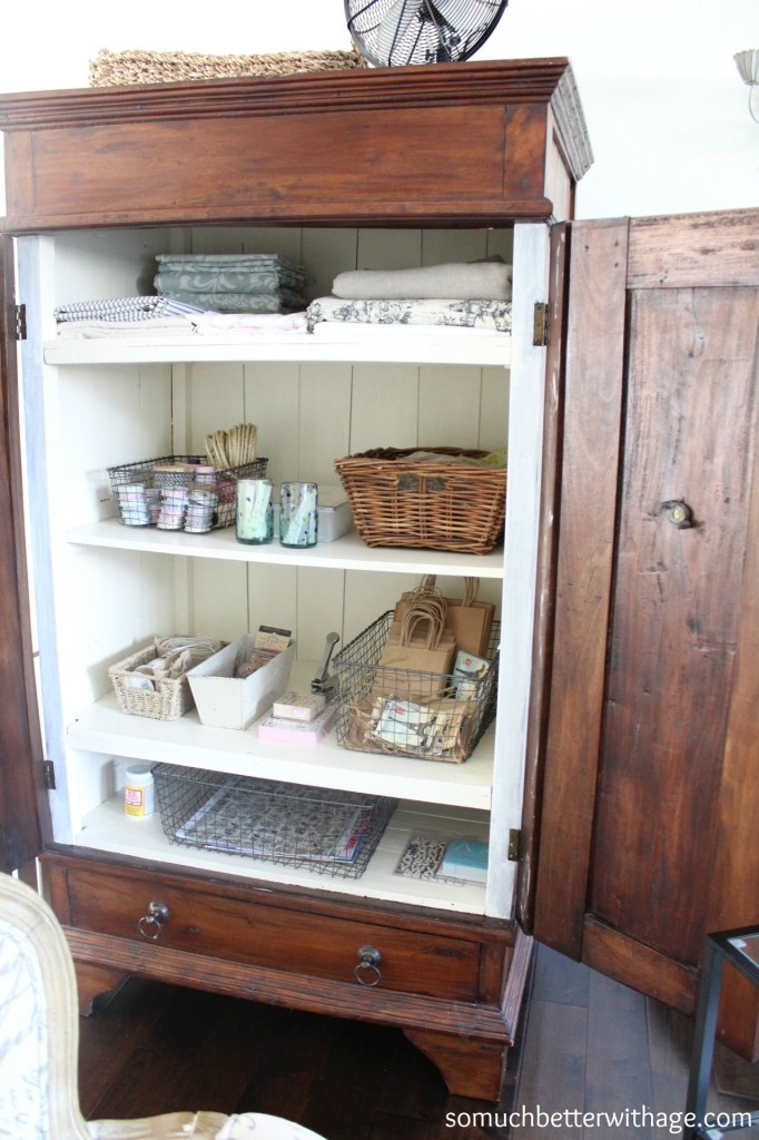 Craft cabinet / armoire with its doors open - So Much Better With Age