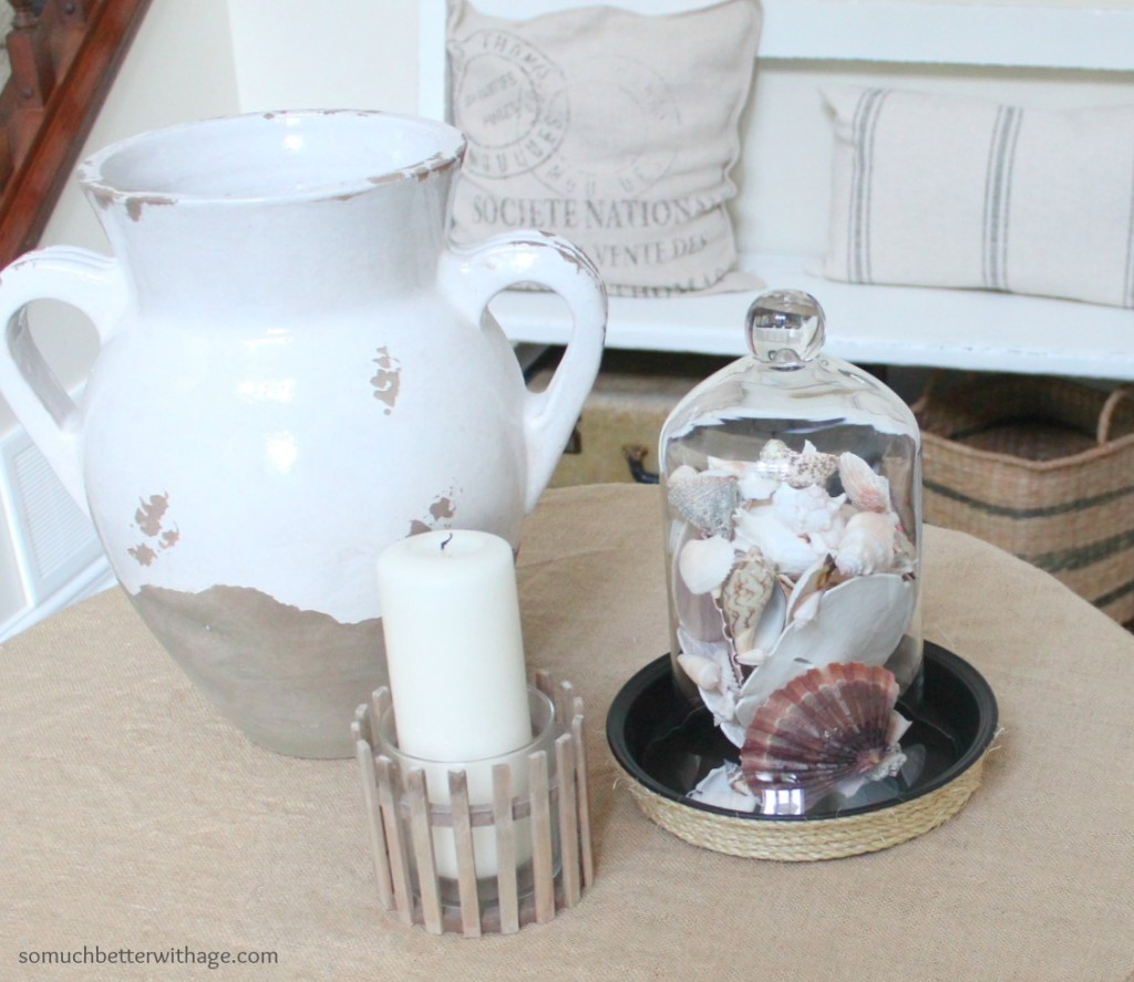 DIY Cloche Tray / cloche on tray - So Much Better With Age