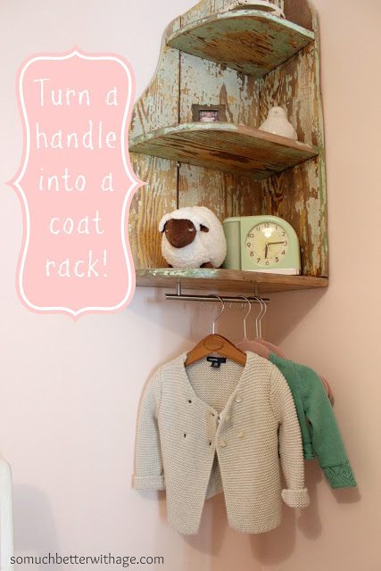 Turn A Handle Into Coat Rack Www Somuchbetterwithage