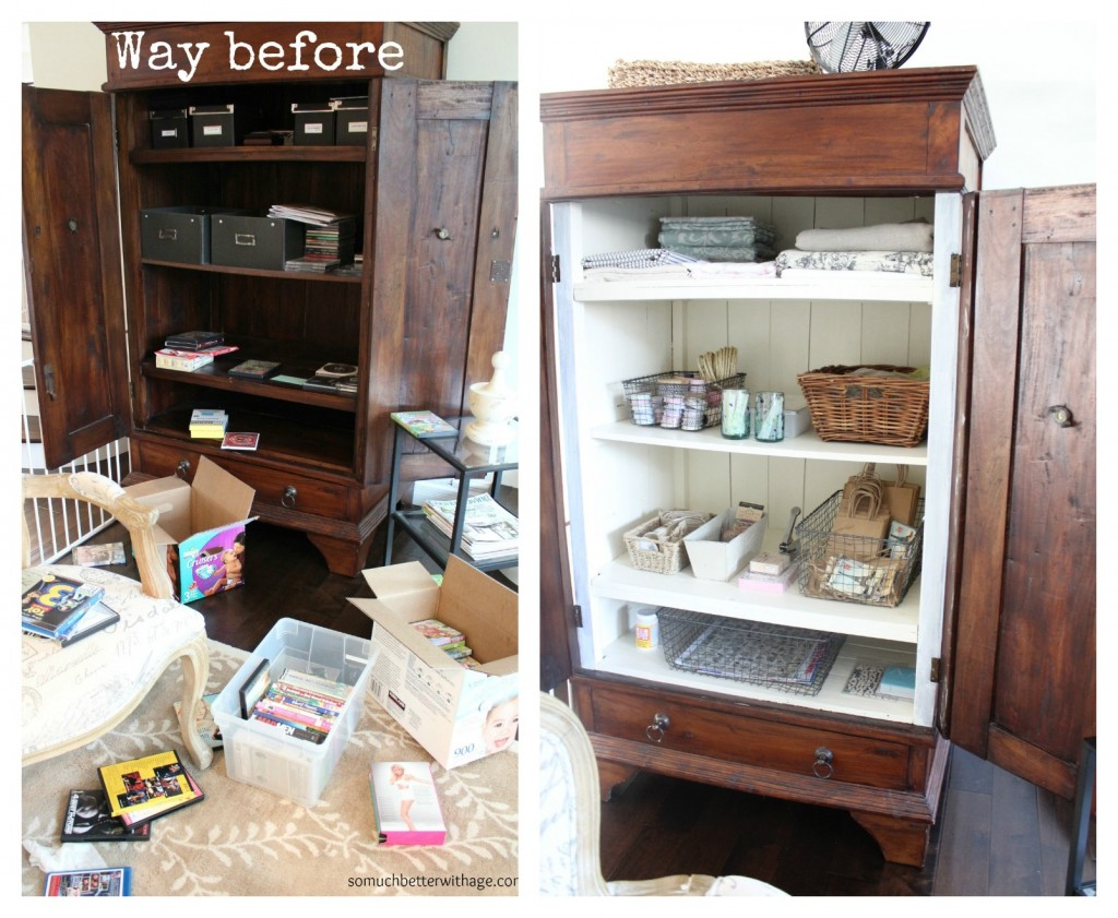 Craft cabinet / before picture of armoire - So Much Better With Age