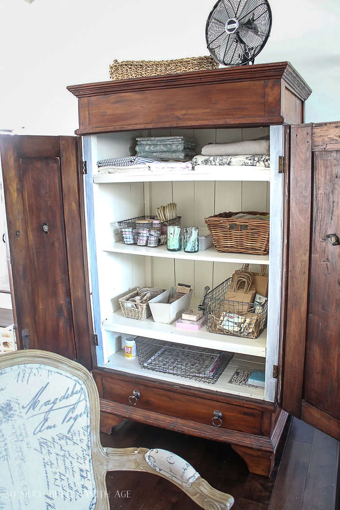 Make a Craft Cabinet - So Much Better With Age