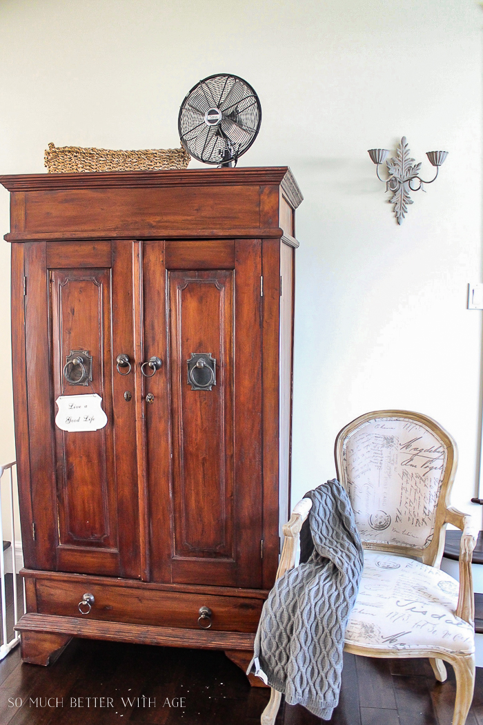 Make a Craft Cabinet/big armoire in living room - So Much Better With Age