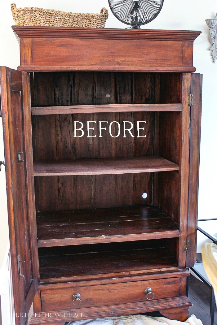 Make a Craft Cabinet/before armoire - So Much Better With Age
