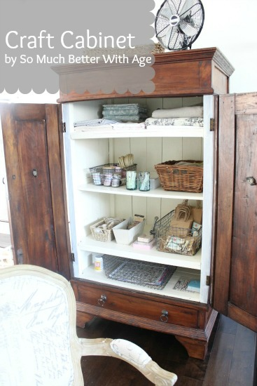Craft cabinet - So Much Better With Age