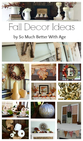 Fall decorating for the mantel, table and shelves.