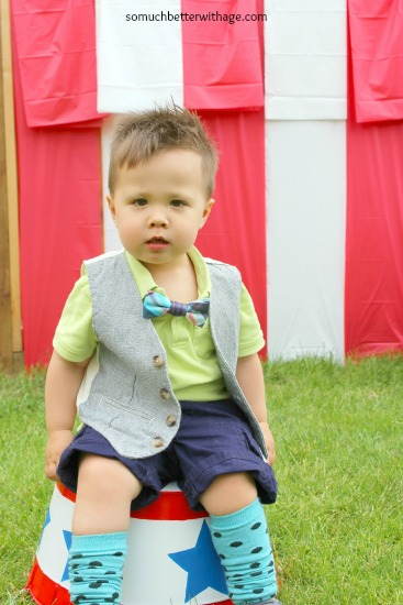 Little boy in a cute bow tie.