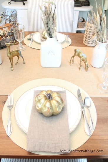 Fall Tablescape Ideas www.somuchbetterwithage.com