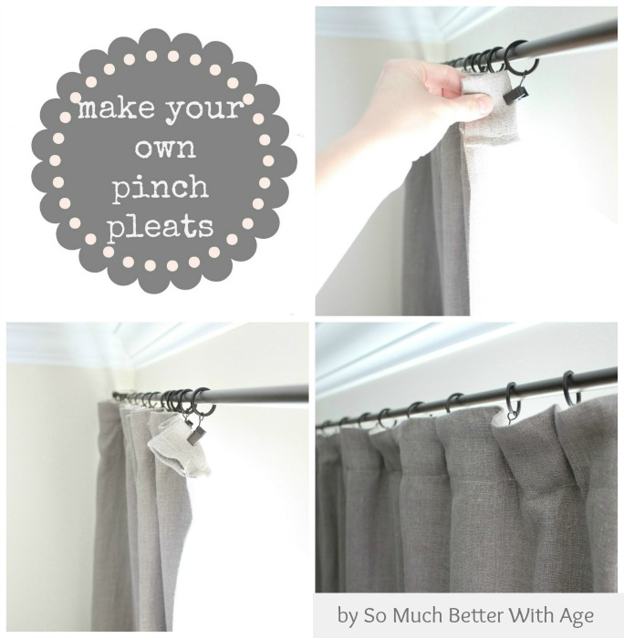 Make your own pinch pleats