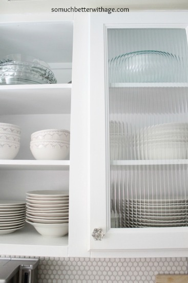 Kitchen obsessed / glass inserts - So Much Better With Age