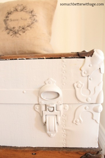 Painted Trunk  www.somuchbetterwithage.com