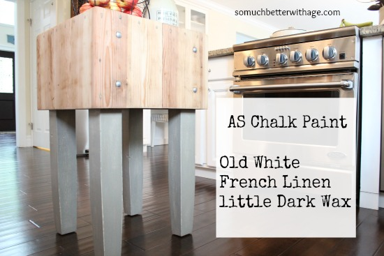 Butcher Block Makeover And Dark Wax Fail & Fix / painting the butcher block - So Much Better With Age