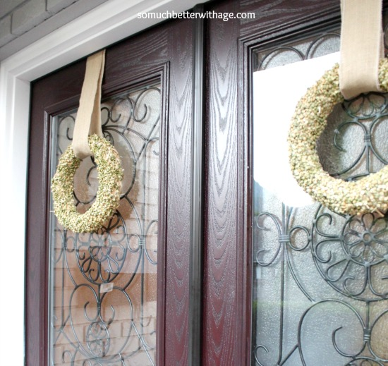 Split Pea Wreath / double wreath on double doors - So Much Better With Age