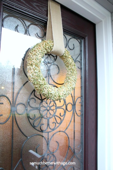 Split Pea Wreath / the wreath is made of straw - So Much Better With Age