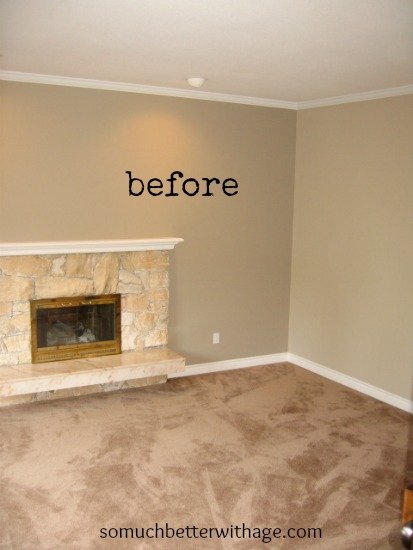 Updated Living room / bare living room with fireplace - So Much Better With Age