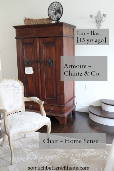A large wooden armoire.