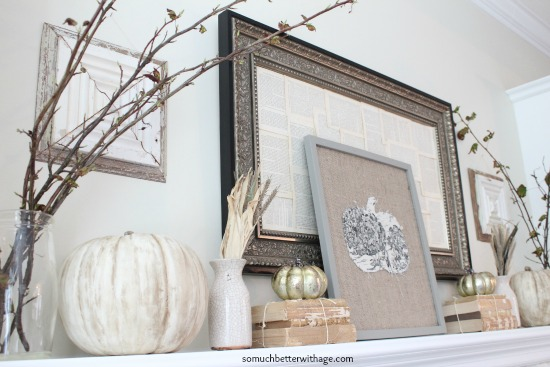 Vintage Chalk Paint Pumpkins/fall mantel decor - So Much Better With Age