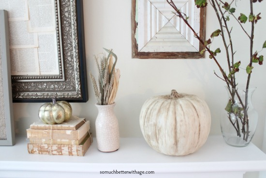 Vintage Chalk Paint Pumpkins/mantel decor - So Much Better With Age