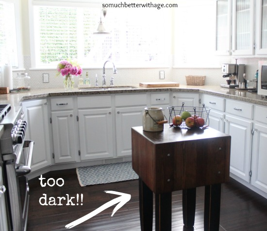 Butcher Block Makeover And Dark Wax Fail & Fix / butcher block that is too dark in kitchen - So Much Better With Age