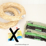 Split Pea Wreath / gathering supplies for the wreath - So Much Better With Age