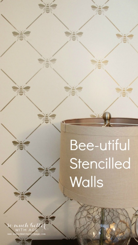 bee-utiful-stencilled-walls-graphic - So Much Better With Age