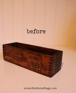 A wooden Kraft crate.