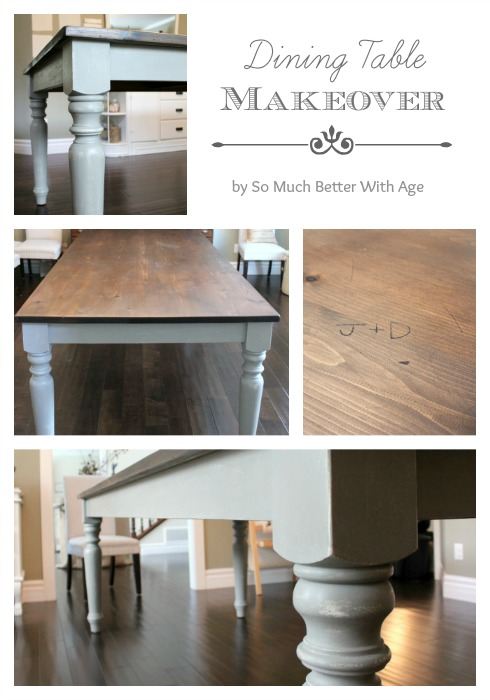 Dining table makeover www.somuchbetterwithage.com