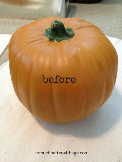 Vintage Chalk Paint Pumpkins/orange foam pumpkin - So Much Better With Age