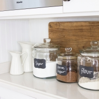 Glass Jar Chalkboard Labels