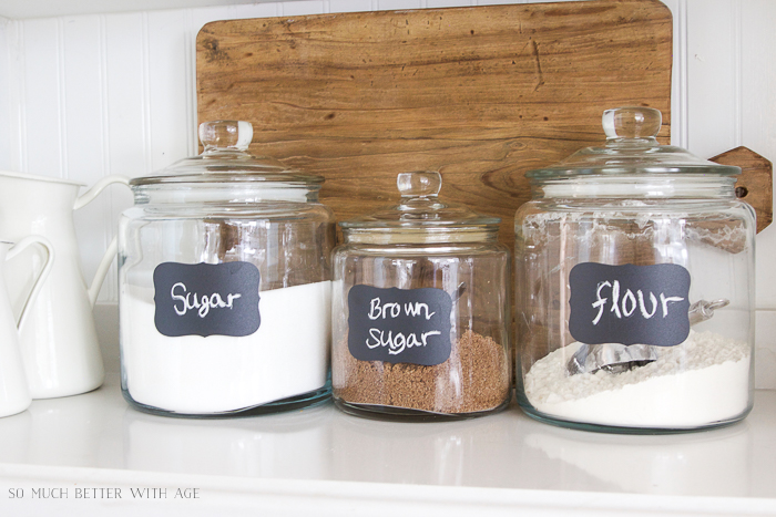 Glass Jar Chalkboard Labels/kitchen canisters - So Much Better With Age