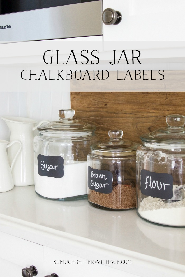 Glass Jar Chalkboard Labels graphic- So Much Better With Age