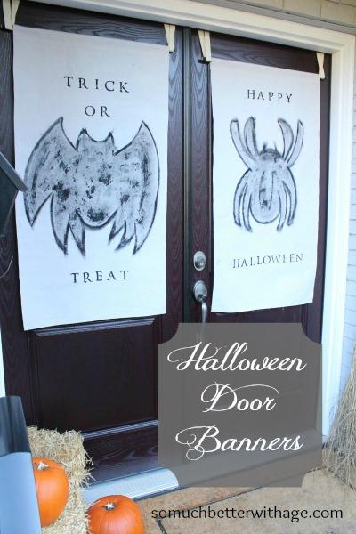 Halloween door banners | somuchbetterwithage.com