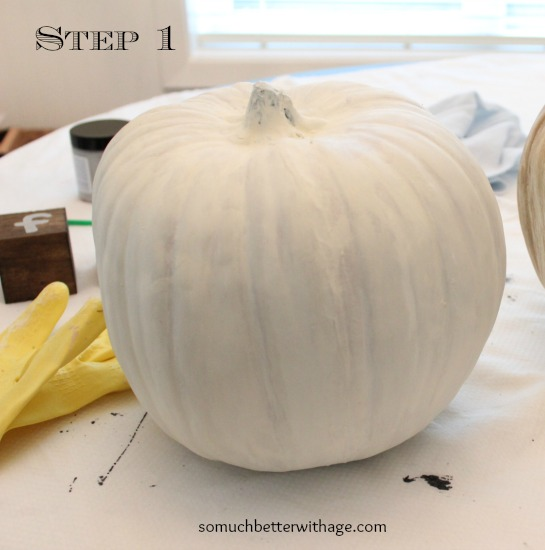 Vintage Chalk Paint Pumpkins/painted pumpkin - So Much Better With Age