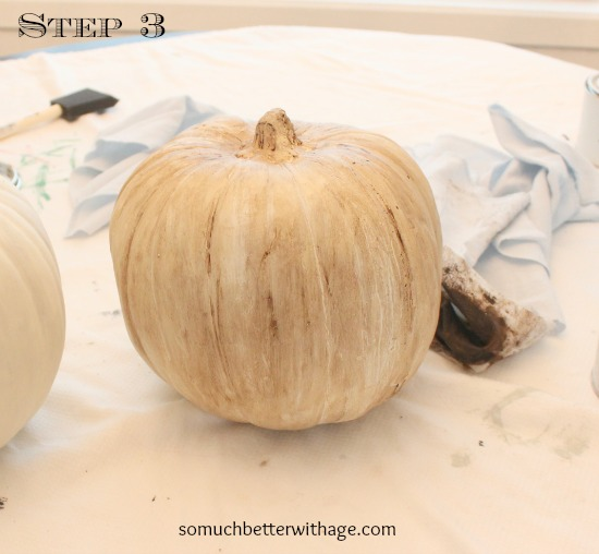 Vintage Chalk Paint Pumpkins/ dark furniture wax on pumpkin - So Much Better With Age