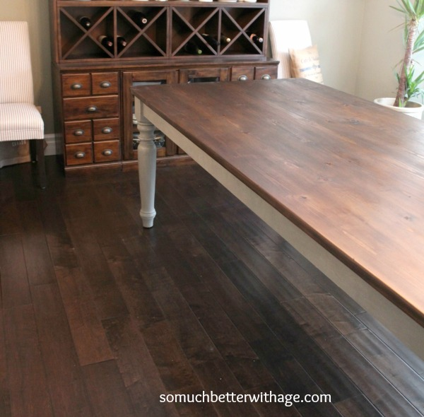 Dining Room Table Makeover So Much Better With Age - Pottery barn distressed dining table