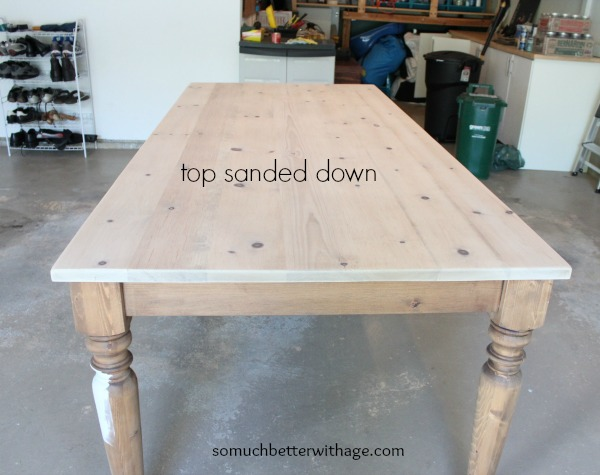Sanded Table Top Www.somuchbetterwithage.com