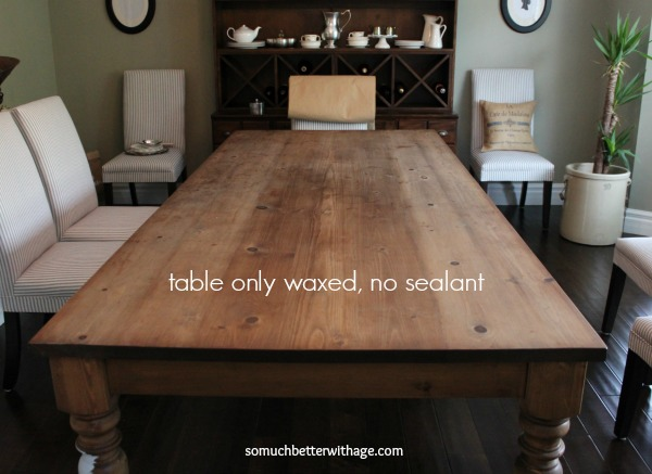 Dining table before www.somuchbetterwithage.com