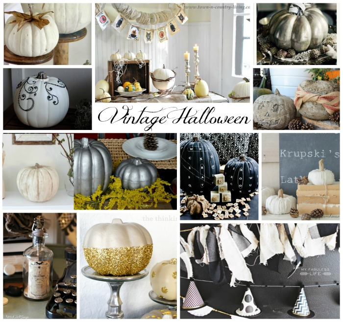 Vintage Halloween Decor / pictures of decor - So Much Better With Age