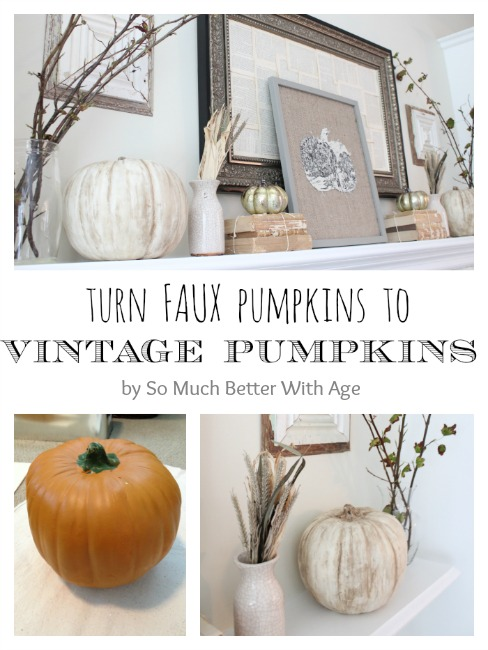 Vintage Chalk Paint Pumpkins - So Much Better With Age