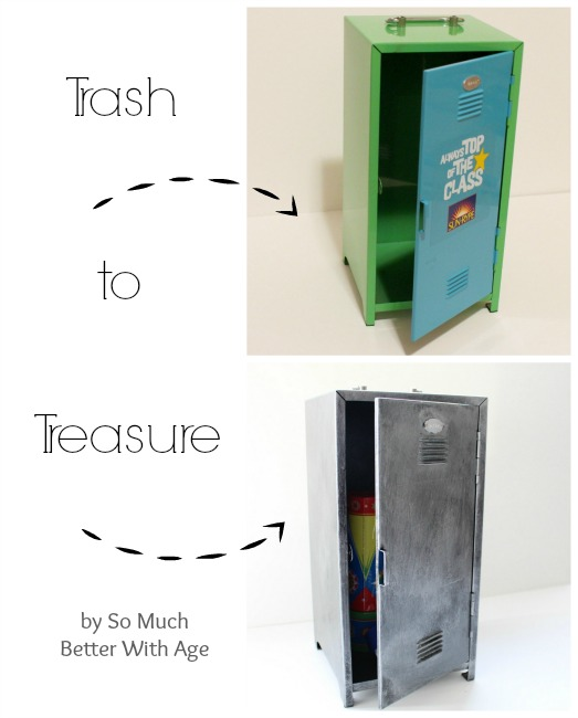 Trash to treasure zinc locker www.somuchbetterwithage.com