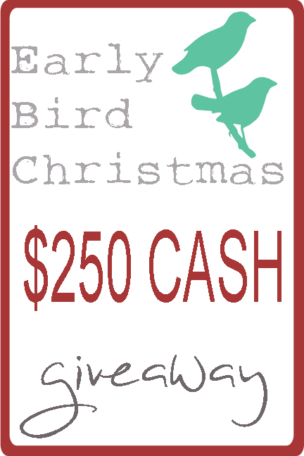 Early bird christmas giveaway www.somuchbetterwithage.com