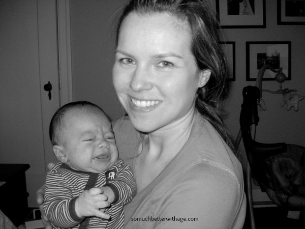 Battling Perfectionism / holding my newborn baby - So Much Better With Age