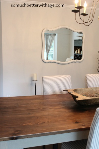 My decorating style series / dining table with mirror on wall - So Much Better With Age