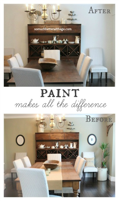 Paint makes all the difference www.somuchbetterwithage.com