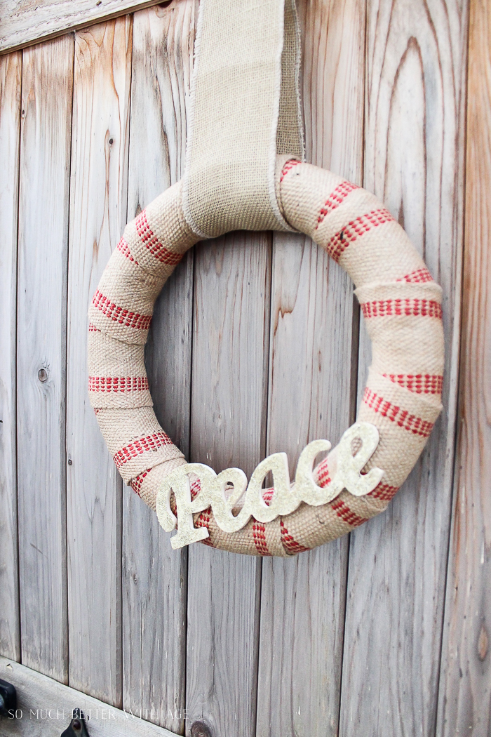 DIY Jute and Glitter Wreaths/gold Peach sign - So Much Better With Age