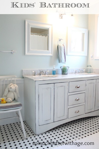Kids bathroom before and after - So Much Better With Age